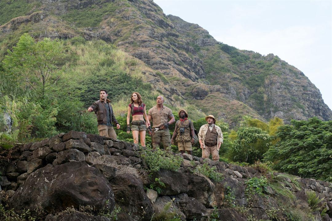 Jumanji: Willkommen im Dschungel : Bild Dwayne Johnson, Jack Black, Karen Gillan, Kevin Hart, Nick Jonas
