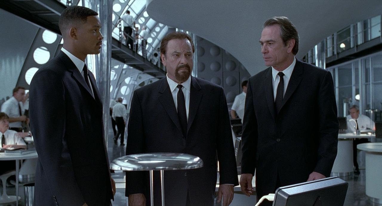 Men in Black: Rip Torn, Will Smith, Tommy Lee Jones