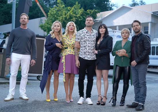 Bild Brian Austin Green, Gabrielle Carteris, Ian Ziering, Jason Priestley, Jennie Garth