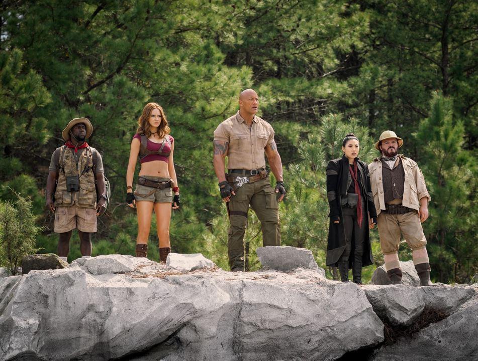 Jumanji 2: The Next Level : Bild Awkwafina, Dwayne Johnson, Jack Black, Karen Gillan, Kevin Hart