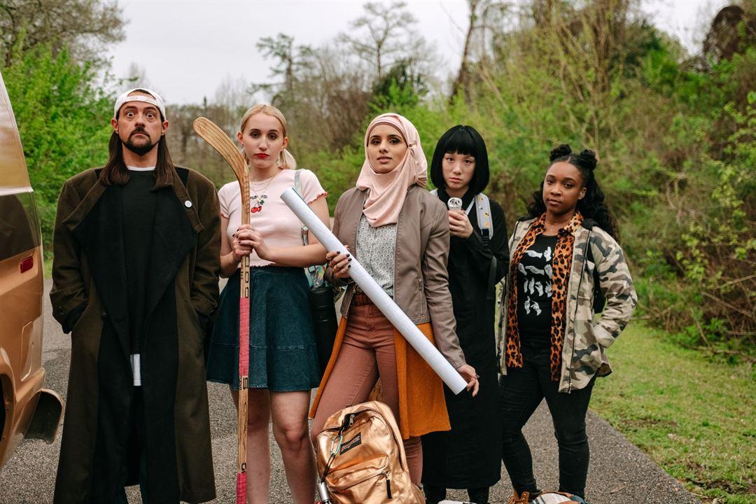 Jay & Silent Bob Reboot : Bild Aparna Brielle, Harley Quinn Smith, Kevin Smith, Treshelle Edmond