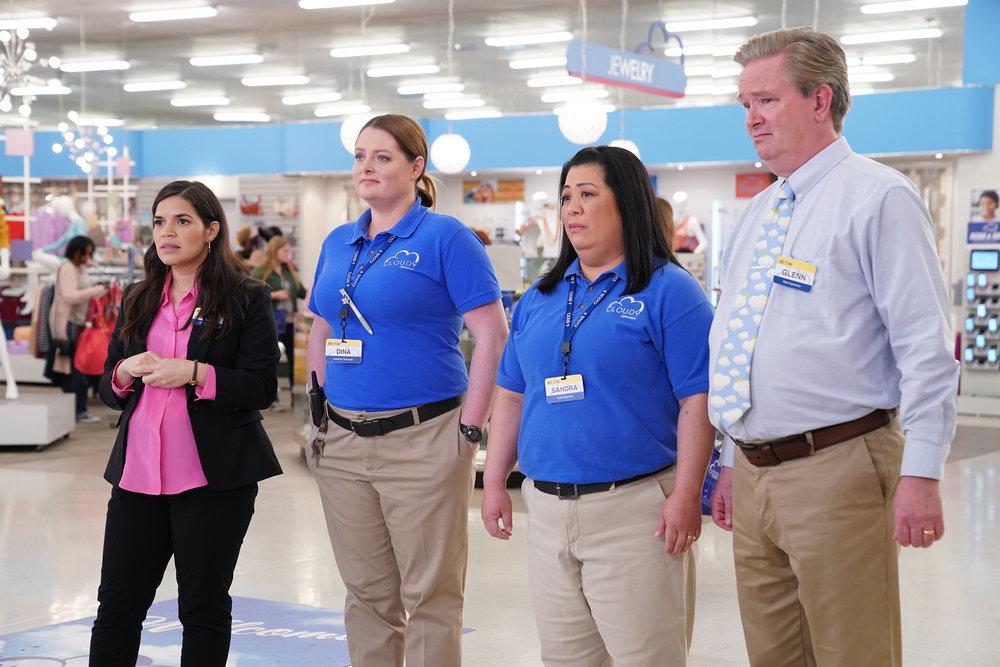 Bild America Ferrera, Kaliko Kauahi, Lauren Ash, Mark McKinney