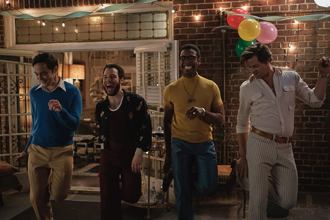 The Boys In The Band : Bild Andrew Rannells, Jim Parsons, Michael Benjamin Washington, Robin de Jesús
