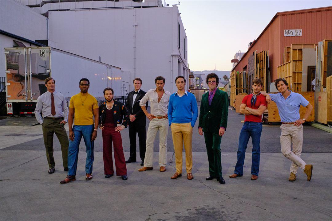 The Boys In The Band : Bild Andrew Rannells, Brian Hutchison, Charlie Carver, Jim Parsons, Matt Bomer